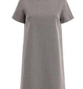 Платье или туника с кожаным воротником
