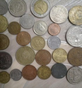 Монеты иностранные - 25 шт.