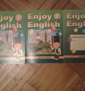 Учебник по английскому языку + рабочая тетрадь