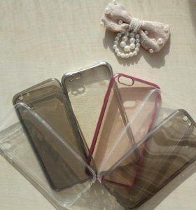 Чехлы для iPhone 6/6s прозрачные