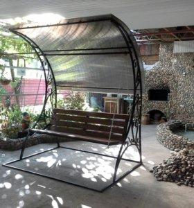 Кованые лавки столы , садовые качели