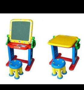 Мольберт-стол-стул детский