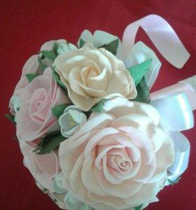 Букет-дублер для невесты ручной работы