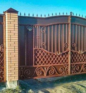 Кованые ворота арт.111