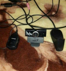 Веб камера +микрофон