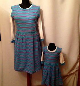 Сарафаны- платья  для мамы и дочки