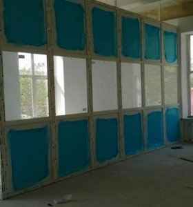 Металлопластиковые перегородки,окна.