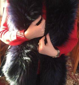 Меховая жилетка-куртка