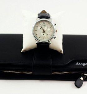 Портмоне Baellerry + Часы.
