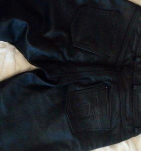 Кожаные мото штаны