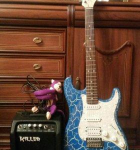 Электрогитара+усилитель для гитары