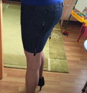 Джинсовая юбка Mango jeans