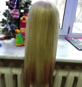 Голова, болванка натур. волосы 100%