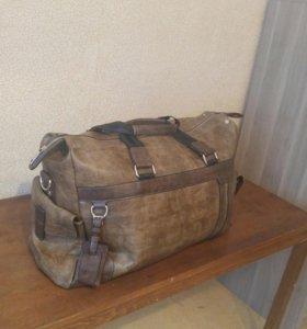 мужская кожаная спортивная сумка Новая