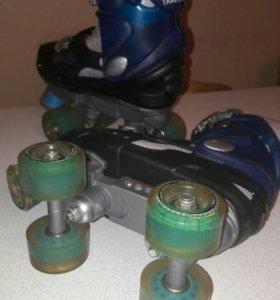 Роликовые коньки раздвижные «Astro», размер 27-31