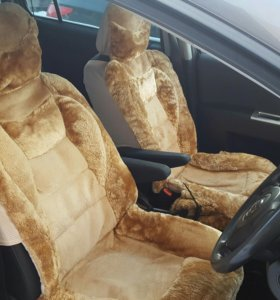 Меховые накидки на сиденье  комплект 5 мест