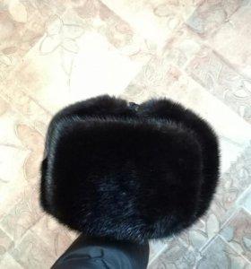 Шапка-ушанка норковая. Размер 56