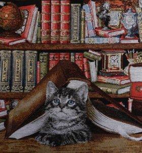 Гобелен наволочка котенок