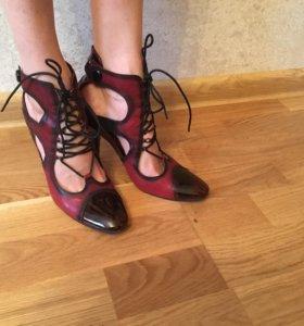Туфли кожаные, р. 35-36