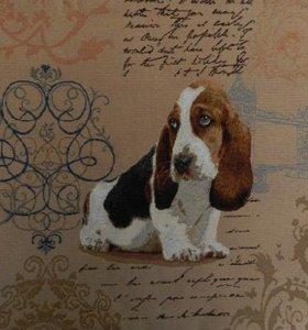 Гобелен подушка собака