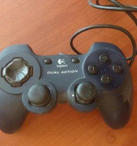 Джойстик Logitech Dual Action для компьютерных игр