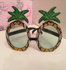 Очки маскарадные(ананасы)