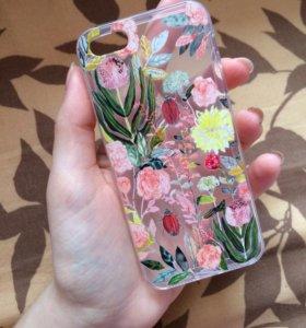 Новый силиконовый чехол на IPhone 5/5s, SE