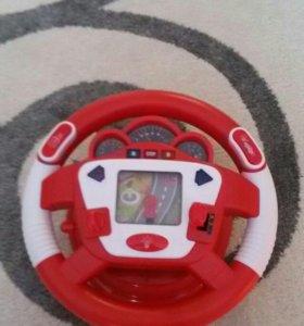 Детский руль новый