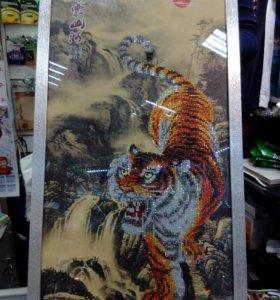 "Алмазная картина ""Тигр"", 45*75см."