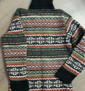Шерстяной свитер, р. 42