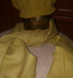 Вязанная шапочка (шапочка,перчатки, шарф)