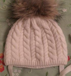 Тёплая детская шапочка