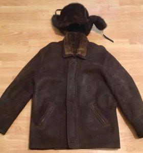 Дубленка и норковая шапка (комплект)