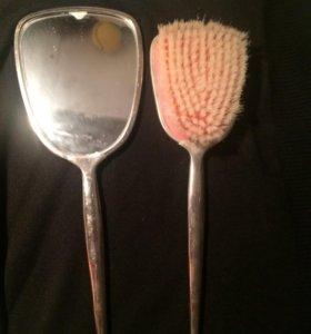 Набор щетка и зеркало