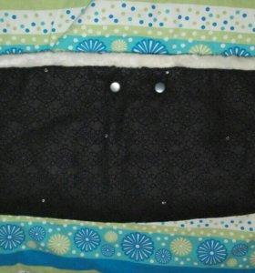 Меховая муфта на коляску,санки