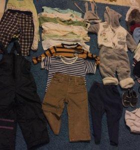 Одежда на мальчика пакетом 68-74