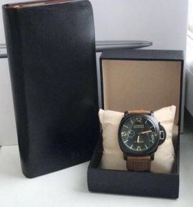 Часы Panerai в комплекте с портмоне