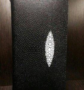 Кожаный клатч сумка H.T черного цвета, унисекс