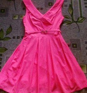 Платье новое нежно розовое с биркой