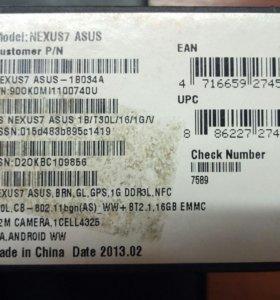 Планшет Nexus 7 Asus