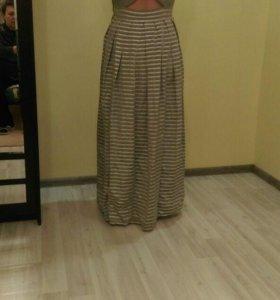 Платье парча+шелк