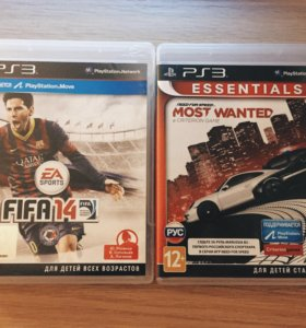 Игры PS3: FIFA 14 + NFS MOST WANTED