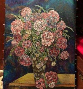 Продам картину ( батик-роспись по ткани)