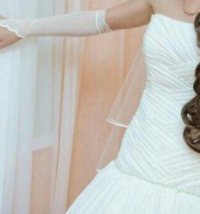 Шикарное, свадебное платье!