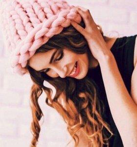 Модные шапочки из мериноса на заказ