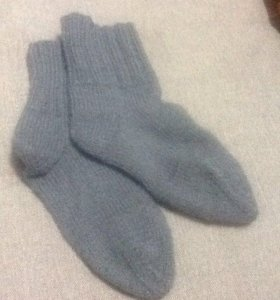 Мужские теплые вязанные носки мягкие