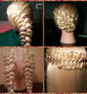 Плетение кос,косичек , причёски