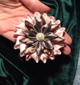 Цветок из атласных лент. Техника канзаши