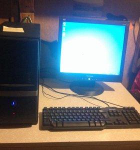 Компьютер+монитор+клавиатура+мышь