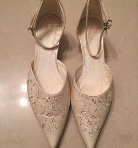Свадебные туфли размер 39 40